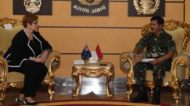 Bertemu Menhan Australia, Panglima TNI Bahas Ancaman Terorisme