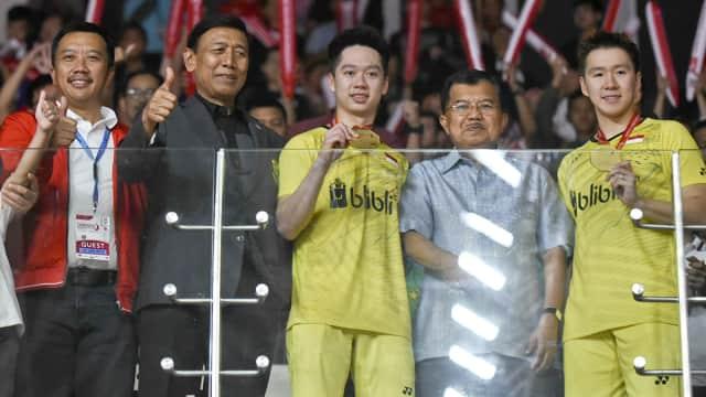 Pesan Jokowi ke Marcus/Kevin: Raih Emas di Asian Games