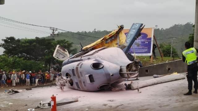 Polisi Selidiki Penyebab Helikopter yang Jatuh di Morowali