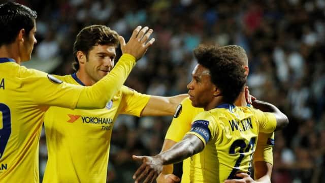 Gol Willian Bawa Chelsea Menang di Markas PAOK