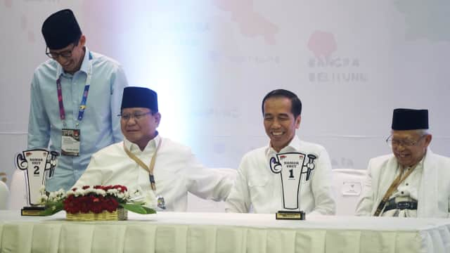 Dana Awal Kampanye: Jokowi-Ma'ruf Rp 11,9 M, Prabowo-Sandi Rp 2 M