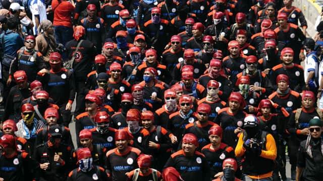 Massa Buruh Berencana Kumpul di Patung Kuda untuk Antar Prabowo ke KPU