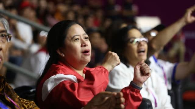 Menko PMK Saksikan Langsung Pertandingan Basket Putra Asian Games 2018