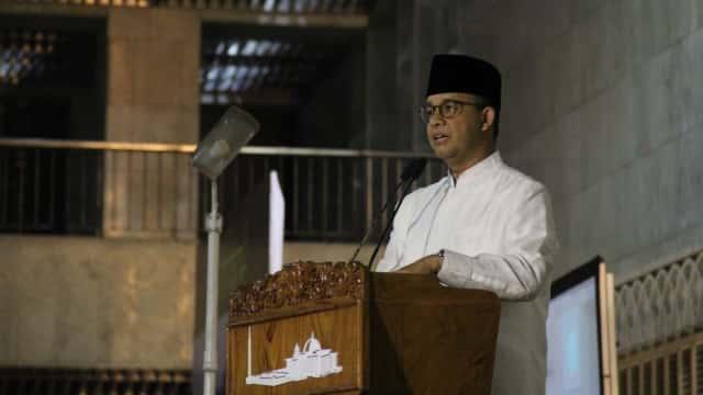 Anies: Tarawih Akbar Bakal Rutin Dilakukan Sekali Tiap Ramadhan