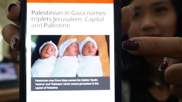 Arti Nama 3 Bayi Kembar di Gaza: Yerusalem, Ibu Kota, dan Palestina