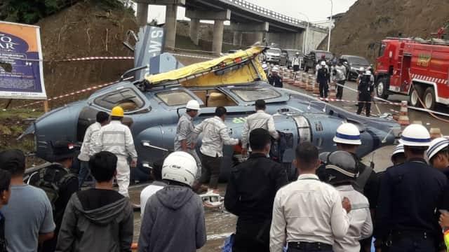 Tragedi Helikopter Jatuh di Morowali, 8 Luka dan 1 Meninggal Dunia