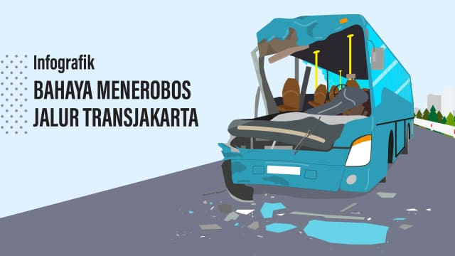 Bahaya Menerobos Jalur TransJakarta