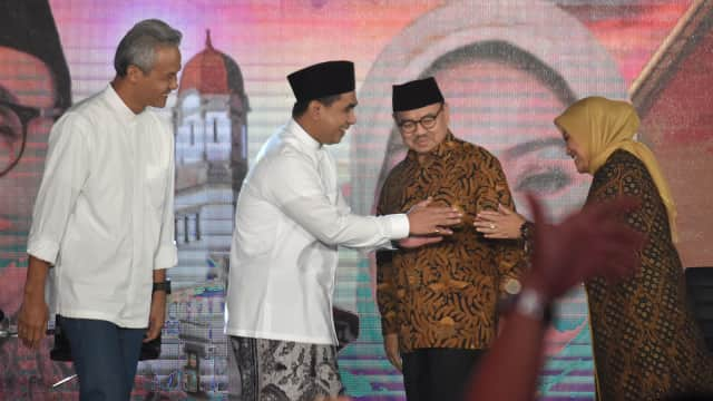 Charta Politika: Ganjar-Taj Yasin 70,5% vs Sudirman-Ida 15,9%