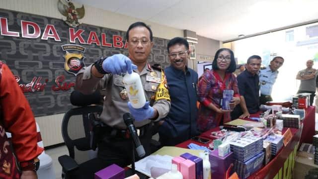 Produk Kosmetik Senilai Rp 450 Juta Asal China Disita Polisi