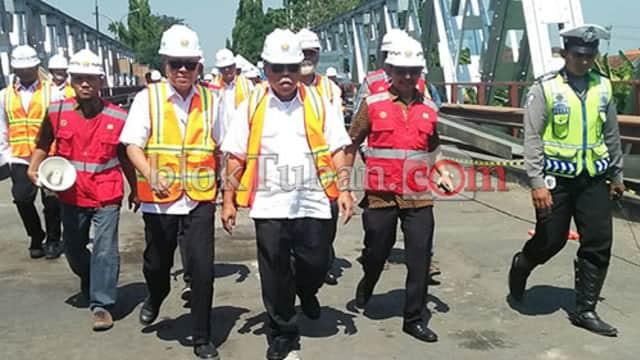 Jembatan Ambruk di Tuban Baru Diperbaiki 3 Segmen