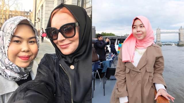 Tika Mulya, Wanita Indonesia yang Pasangkan Hijab untuk Lindsay Lohan