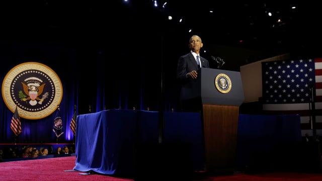 Obama Dobrak Tradisi Lama Pidato Perpisahan Presiden Amerika