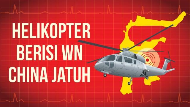Infografik: Jatuhnya Helikopter Berisi WN China di Morowali