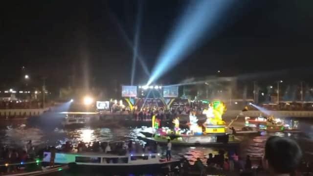 Antusiasme Festival Jukung Hias di Sungai Martapura