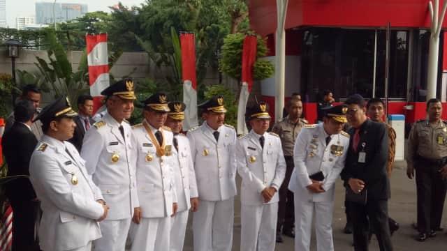 Usai Dilantik di Istana, Ridwan Kamil, Ganjar Pranowo dkk Sambangi KPK