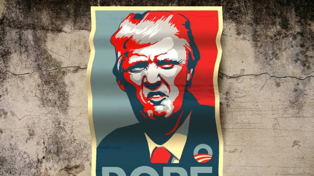 Karya Visual Menentang Trump