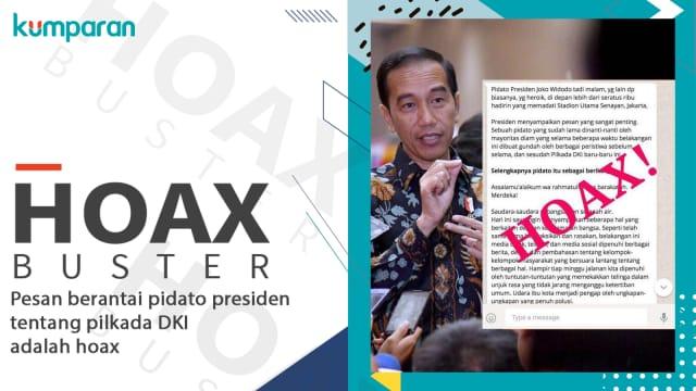 Isi Pesan Berantai Presiden Jokowi Tentang Pilkada DKI Adalah Hoax