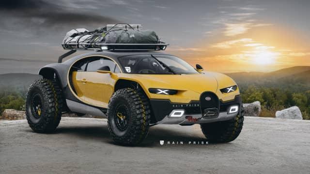 Begini Tampilan Bugatti Chiron yang Disulap Menjadi SUV