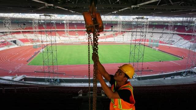 Pujian Sri Mulyani untuk Renovasi Venue Asian Games 2018 di Senayan