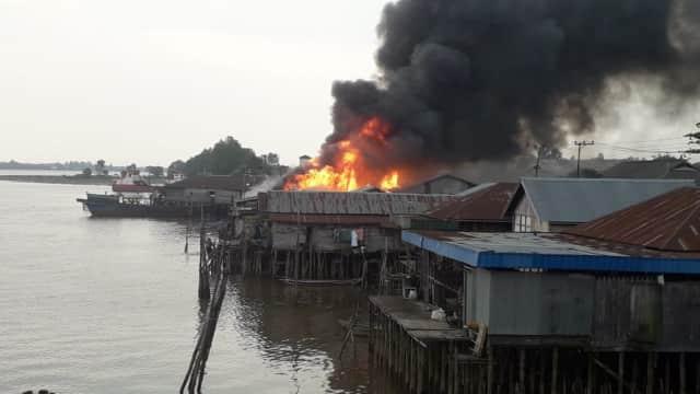 Korban Kebakaran Pasar Berangas Jadi 47 Kios