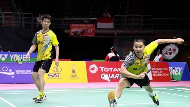 Piala Thomas: Marcus/Kevin Bungkam Liu/Zhang untuk Samakan Kedudukan