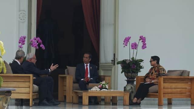 Temui Jokowi, Menlu Palestina Sampaikan Terima Kasih atas Dukungan RI