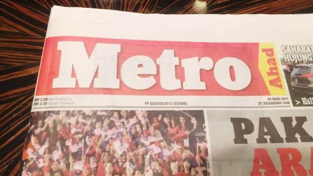 Giliran Koran Malaysia Pasang Bendera Indonesia Terbalik