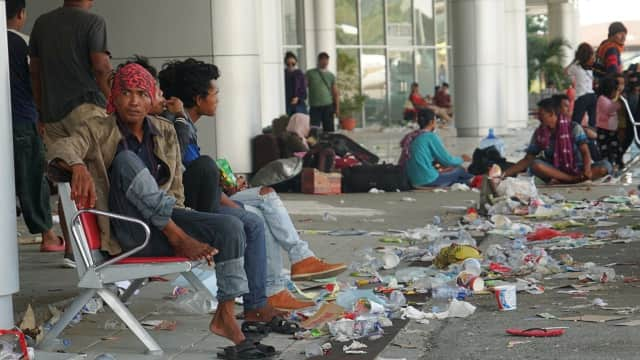 TNI AU: Ribuan Warga Sempat Merangsek Masuk Apron Bandara di Palu