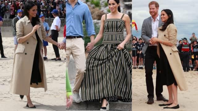 Berkunjung ke Pantai, Meghan Markle Tinggalkan High Heels