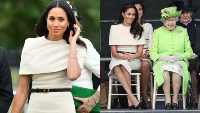 'Kencan' dengan Ratu Inggris, Meghan Markle Kenakan Gaun Givenchy