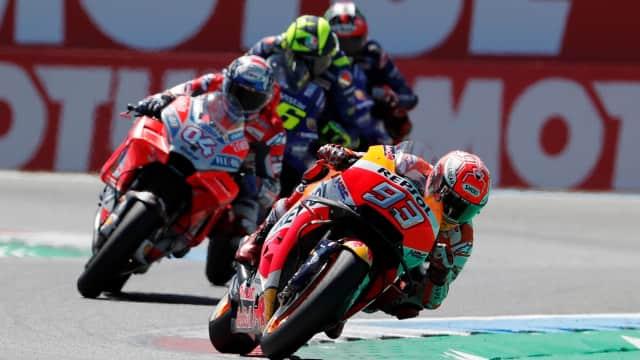 FP2 GP Aragon: Marquez Tercepat, Duo Ducati di Belakangnya