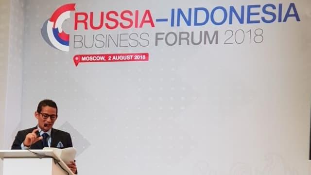 Sandi Promosi Peluang Investasi di Jakarta dalam Forum Bisnis Rusia