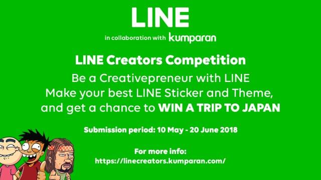 Mau Liburan Gratis ke Jepang? Yuk Ikutan LINE Creators Competition!