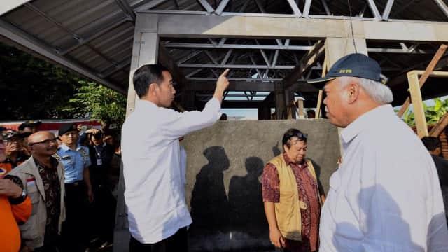 Jokowi Minta Menteri PUPR Latih Warga Bangun Rumah Tahan Gempa
