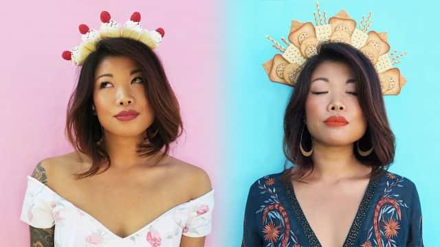 Unik, Desainer Ini Ciptakan Mahkota dari Croissant hingga Churros