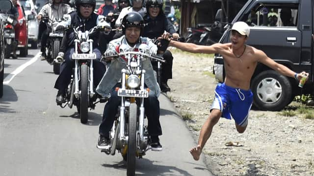 4 Aksi Jokowi Naik Motor yang Jadi Sorotan