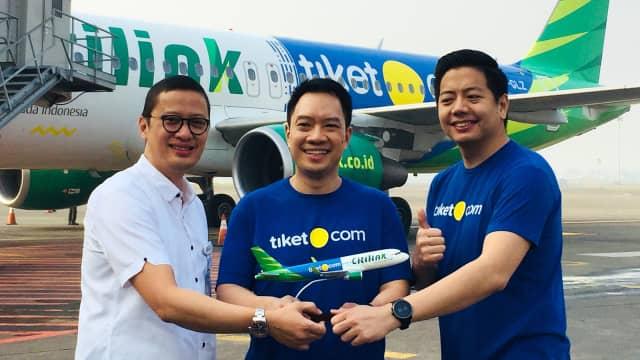 Logo Tiket.com Hadir di Badan Pesawat Citilink Indonesia