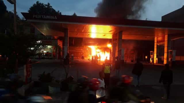 Kebakaran SPBU di Bogor karena Korsleting Pompa, Sempat Ada Ledakan