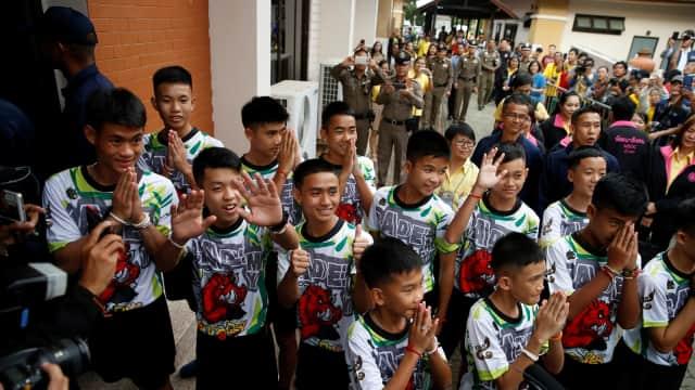 Pagi Pertama di Rumah untuk Anak-Anak Tim 'Babi Liar' Thailand
