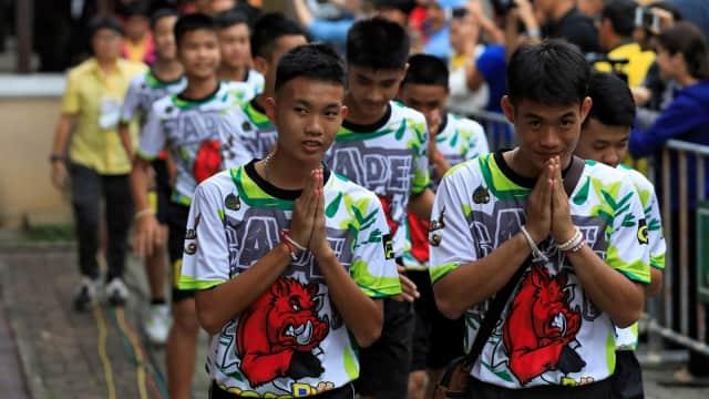 12 Anak Thailand yang Sempat Terjebak di Gua Ingin Jadi Biksu