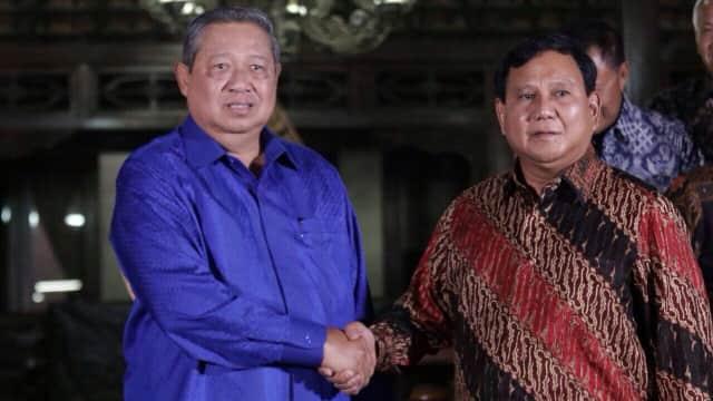 Prabowo dan SBY Akan Bertemu Rabu Bahas Kans Koalisi di Pilpres