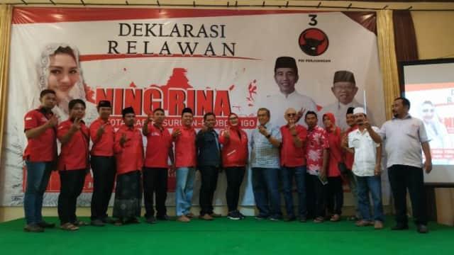 Ratusan Relawan Deklarasikan Kemenangan Ning Rina
