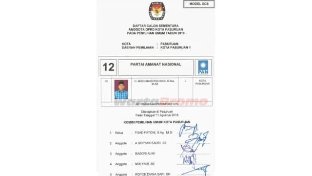 KPU Kota Pasuruan Belum Terima Tanggapan Meski Ada Caleg Kasus Korupsi