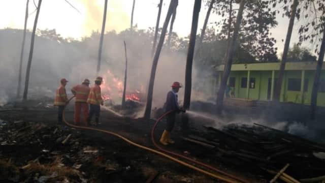 Bakar Rongsokan Kayu, Lahan Kosong Belakang Kantor PCNU Pasuruan Dilalap Api
