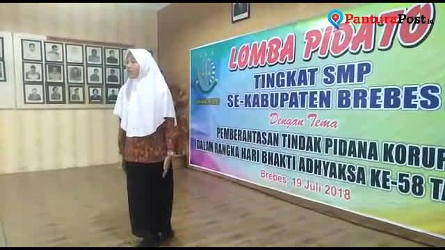 Video: Pidato Siswi SMP di Brebes Singgung Kasus Korupsi e-KTP