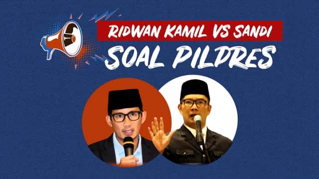 Infografik: Ridwan Kamil vs Sandi Soal Pilpres