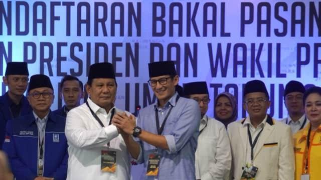 Prabowo - Sandi Minta Kader Tak Komentar Negatif Selama Asian Games