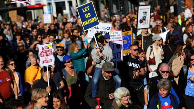 Ratusan Ribu Demonstran di Inggris Demo Desak Referendum Ulang Brexit