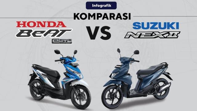 Adu Kuat 2 Motor Sejuta Umat: Honda BeAT vs Suzuki NEX II