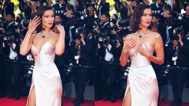 Bella Hadid Kembali Alami Malfungsi Gaun di Festival Film Cannes 2017
